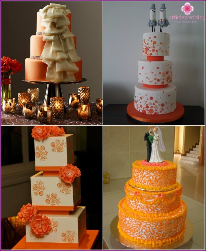 Desserts orange color to the wedding