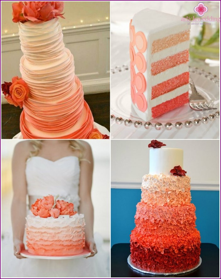 Orange cake with style Ombre