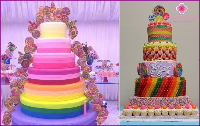 Wedding candy cake