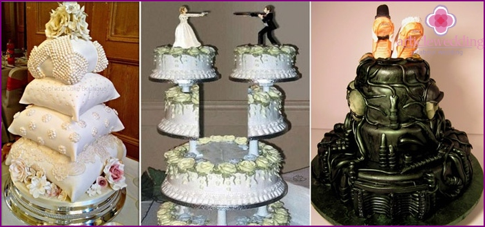 Funny and unconventional wedding cakes