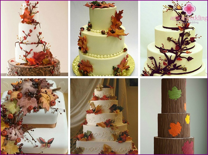 Maple leaves as an element of rustic-decor