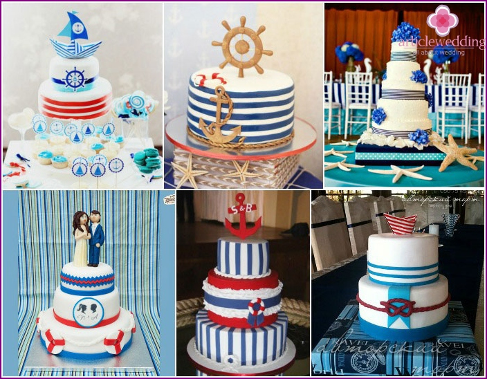 Striped print sea wedding feast