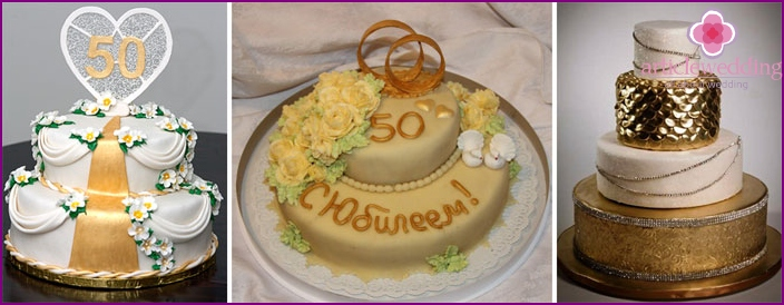 A beautiful cake for the 50th anniversary of the family
