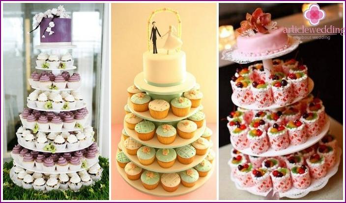 Portion wedding cupcakes