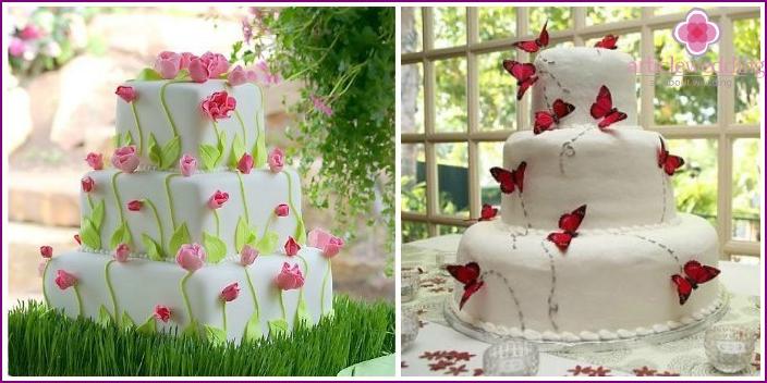 Air light wedding cake