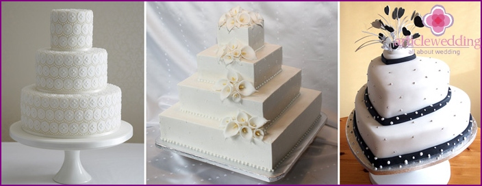 A variety of forms of confectionery masterpieces white