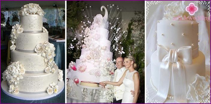 Cakes for wedding large size
