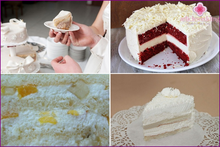 Types of fillings for cakes wedding white