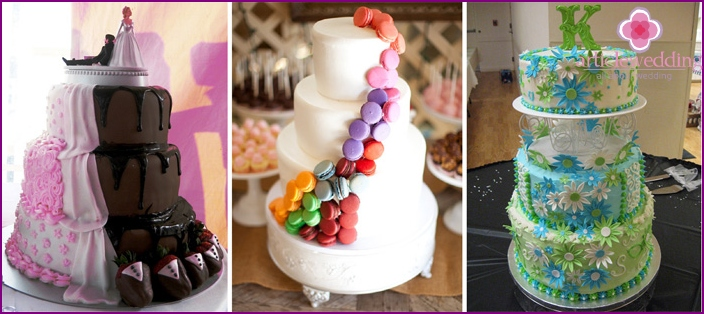 Wedding Desserts - colored accents on white