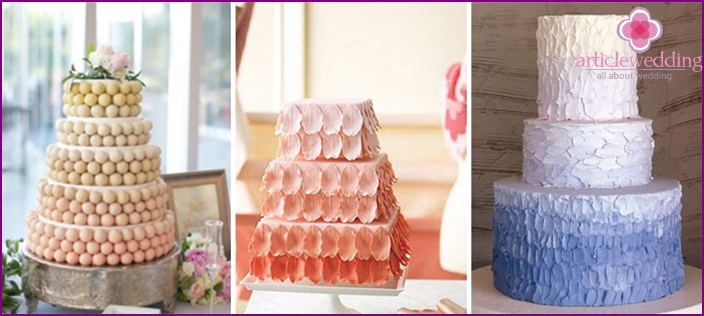 Wedding cakes in the style Ombre