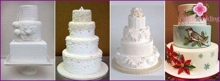 The color palette of the wedding cake
