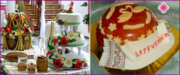 Ukrainian wedding loaf with mastic