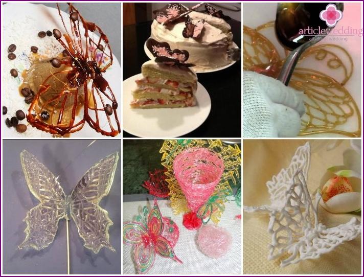 Butterflies of caramel