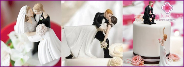 Figures for bridal wedding cake