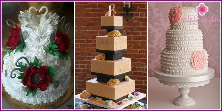 Wedding cake pyramid