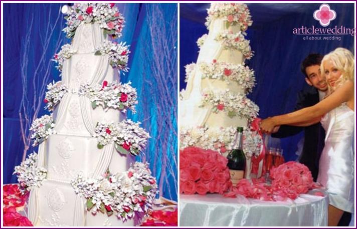 Wedding cake Iceberg Christina Aguilera, George Bratman