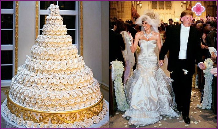 Wedding cake billionaire Donald Trump