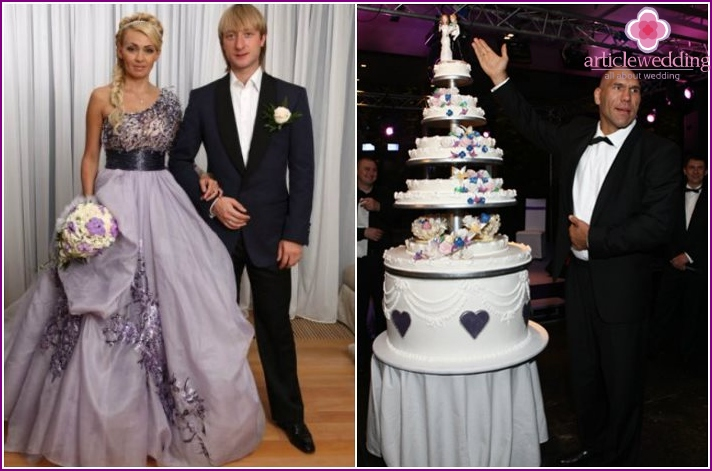 Dessert at the wedding of Plushenko-Rudkovskoj