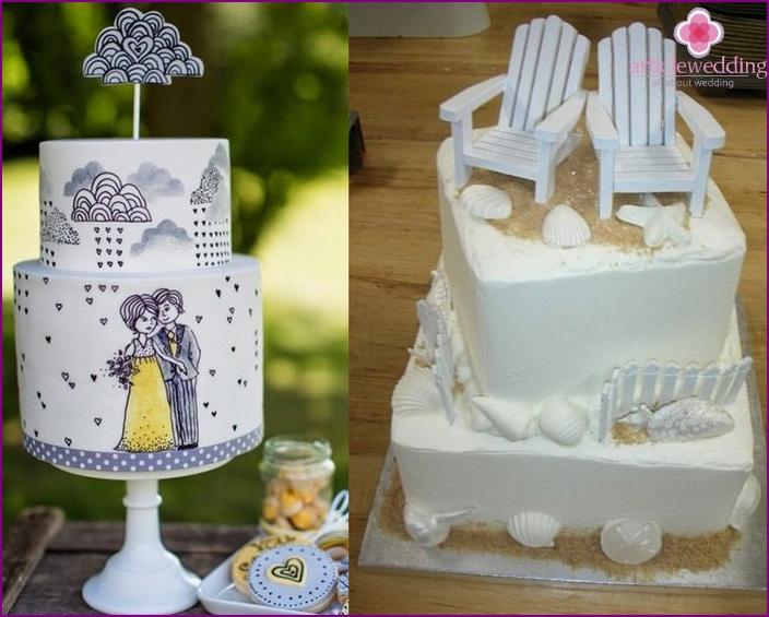 Themed wedding dessert
