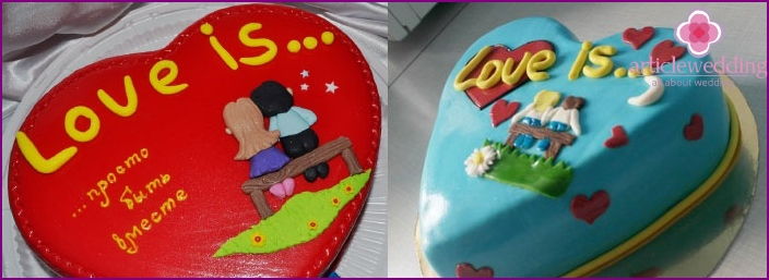 Love Cake in the form of heart