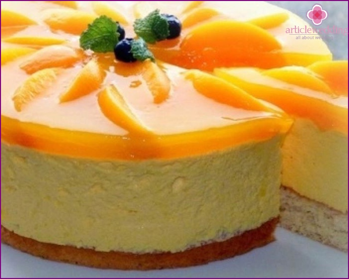Cake with souffle