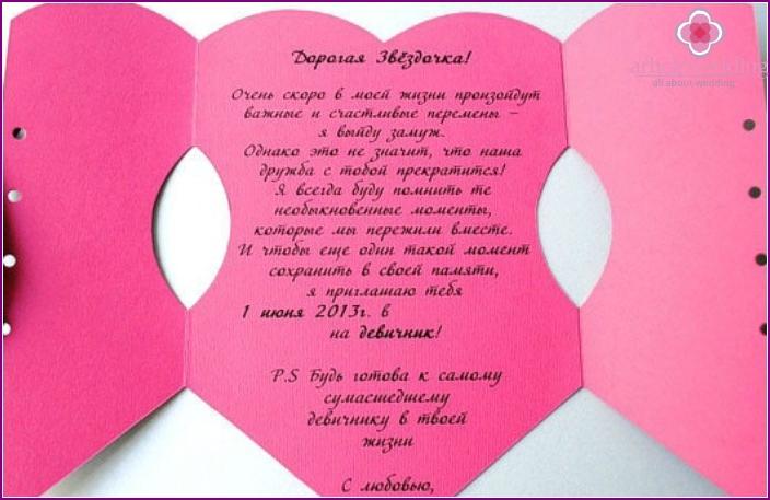 Spiritual invitation for a bachelorette party