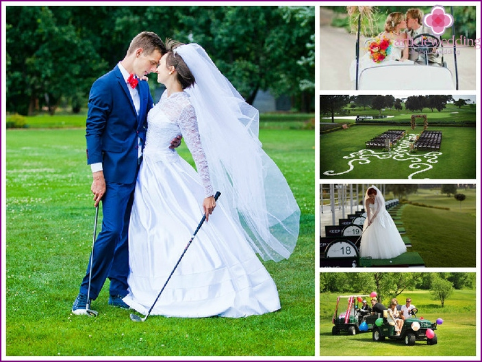 Wedding on a golf course