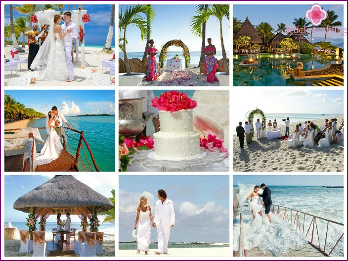 Photos weddings in Mauritius