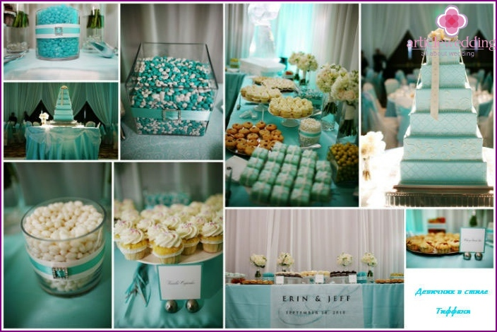 "Sweets on a hen party ""Breakfast at Tiffany's"""