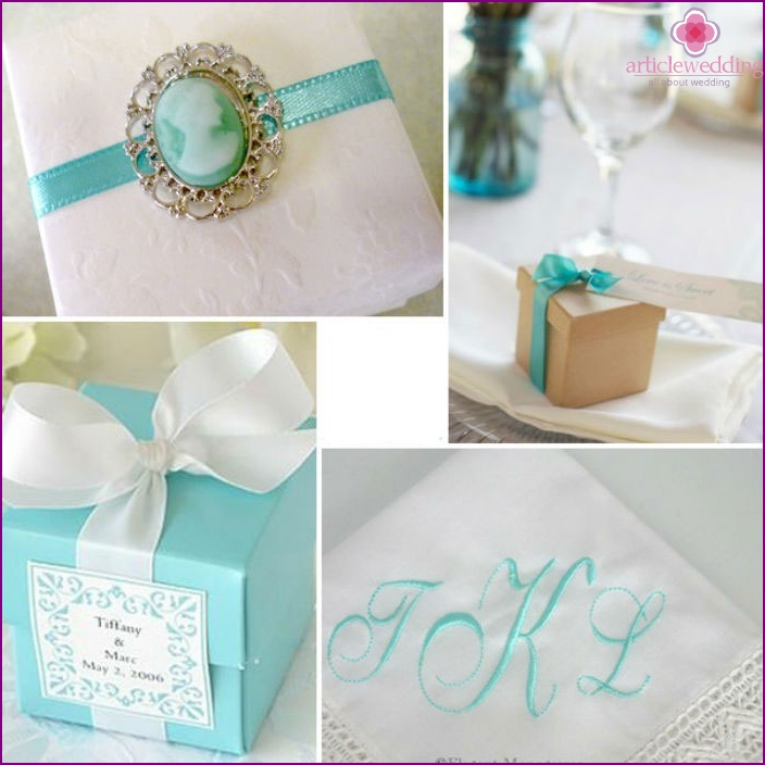 "Gifts for the bride and la ""Tiffany"""