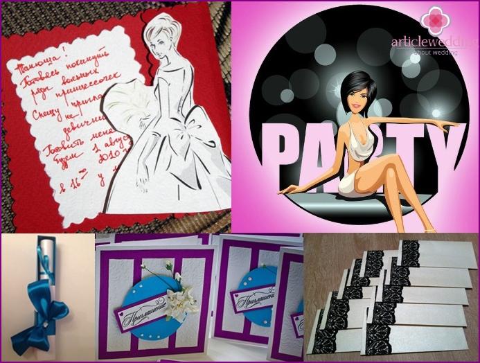 invitation card ideas at a bachelorette party