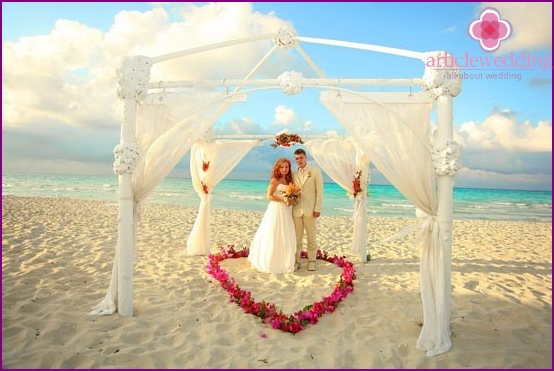 A wedding in the Maldives