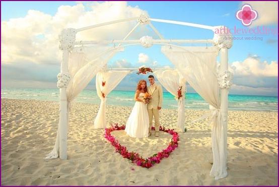 A wedding in the Maldives