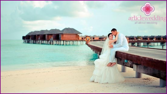 Amazing wedding in the Maldives