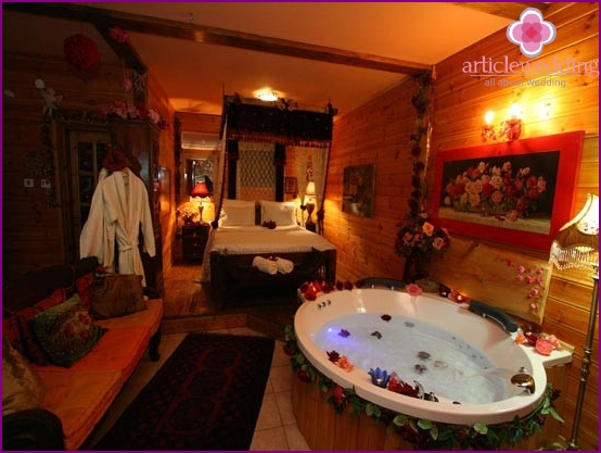 Jacuzzi by candlelight