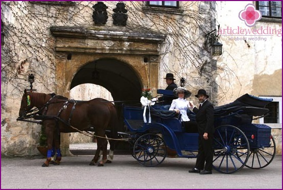 Wedding procession of the Middle Ages