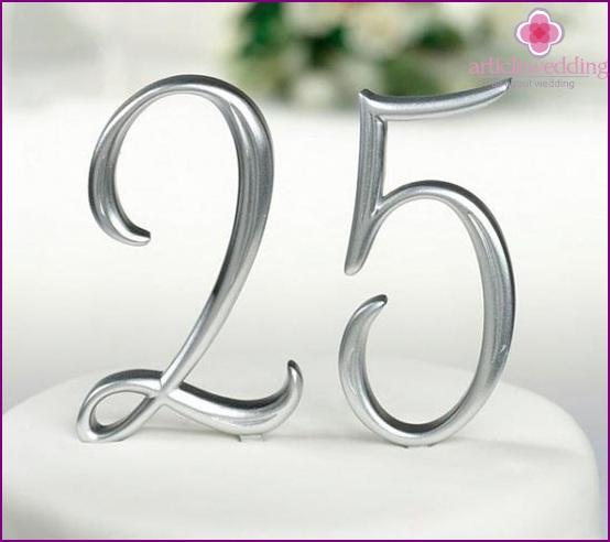 25 år bröllop Silver bröllop   25 år från bröllopet 25 år bröllop