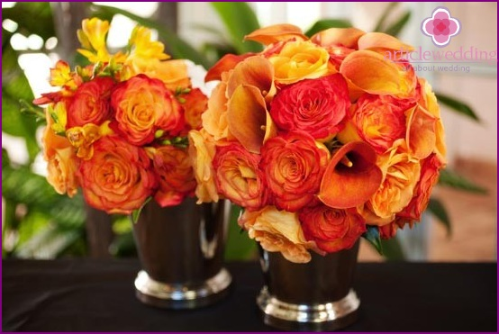 Orange Wedding Flower Decoration