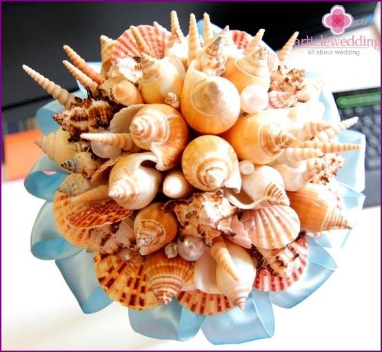 Sea bride bouquet
