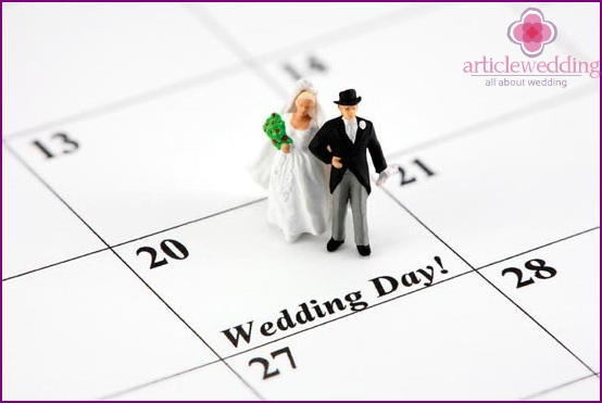 Individual approach to choosing a wedding date