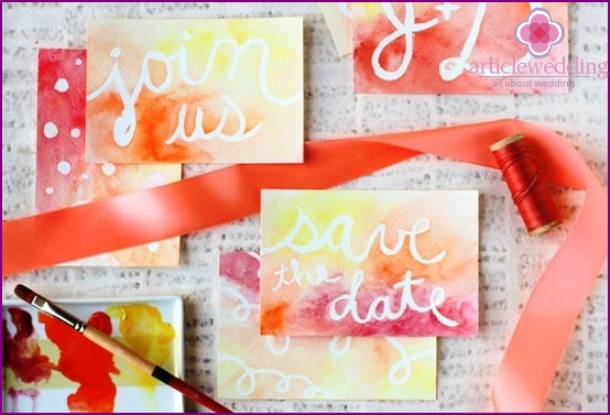 Wedding Date Cards