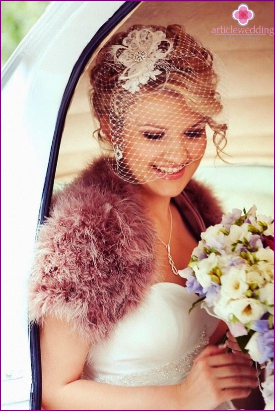 Romantic bride with a veil