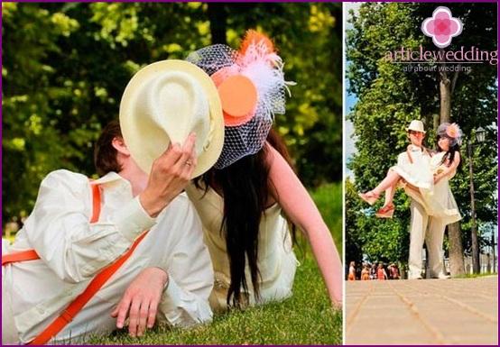 Orange hat veil