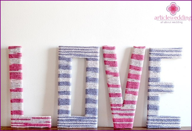 Letters for interior and holiday decor