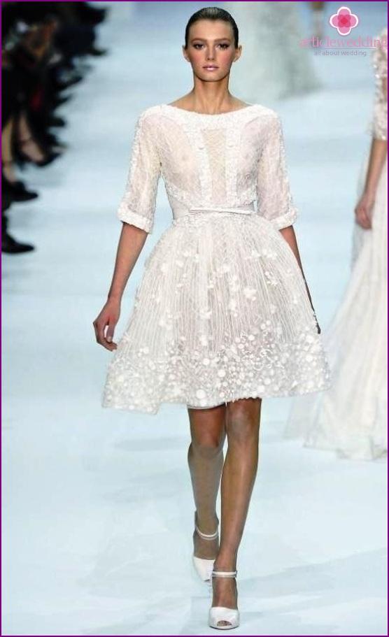 White dress white print