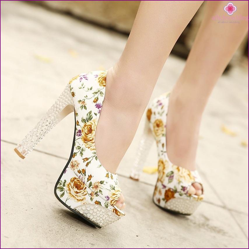 Stylish printed shoes