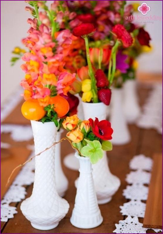 Tangerine Wedding Decoration