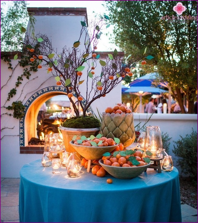 Tangerine style wedding