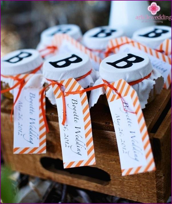 Dessert for tangerine wedding