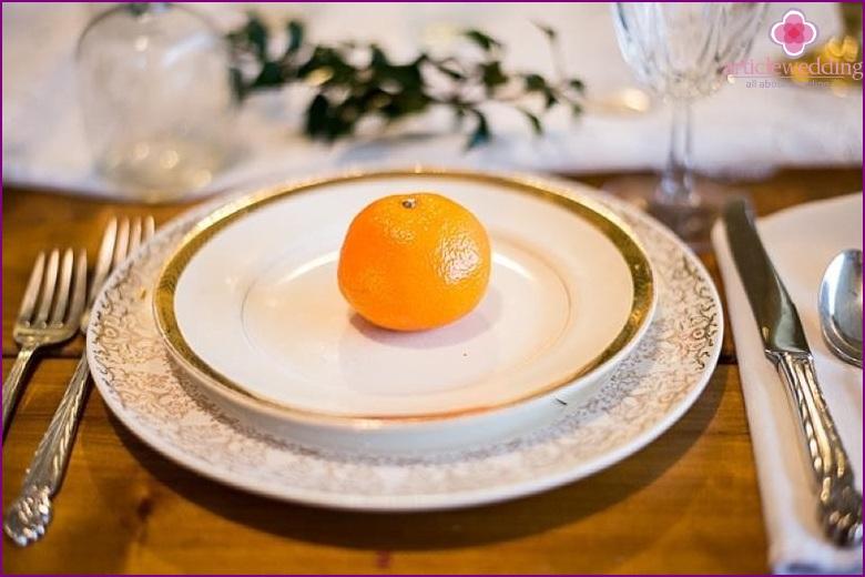 Tangerine Bonbonnieres